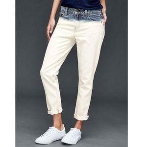 Gap Blue White Denim Best Girlfriend Dip Dye Jeans